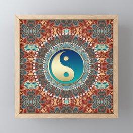 Bohemian Batik Yin Yang Framed Mini Art Print