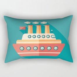 Passenger Ship Rectangular Pillow