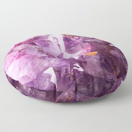 Violet Purple Amethyst Crystal Floor Pillow