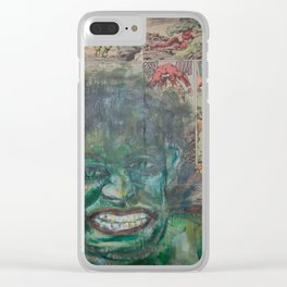 It's Cool To Be Green Clear iPhone Case