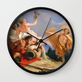 Oil Painting Apollo Pursuing Daphne by Giovanni Battista Tiepolo Wall Clock