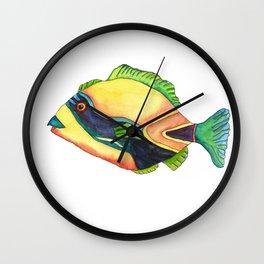 H is for Humuhumunukunukuapua'a Wall Clock