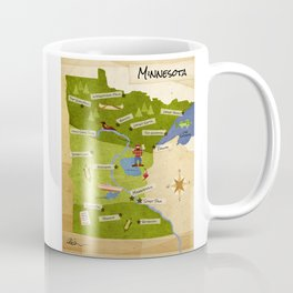 Minnesota Map Coffee Mug