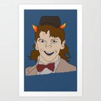 fandom Art Prints featuring Fandom Monster by Dansparce