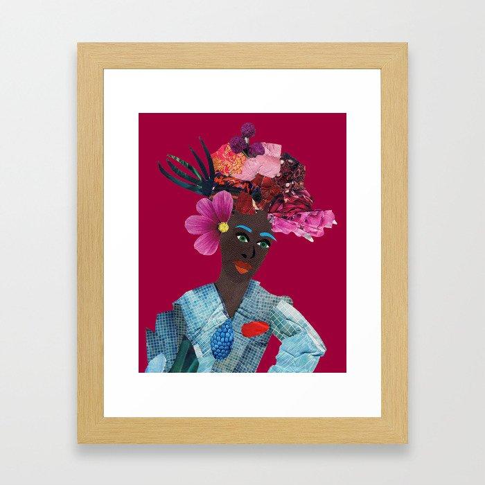 Antonia red Framed Art Print