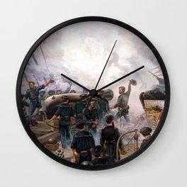Battle Between Kearsarge And Alabama -- Civil War Wall Clock