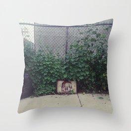 wine, trash Throw Pillow