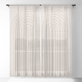 Minimalist Arch XI Sheer Curtain