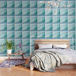 Pacific big surfing wave breaking Wallpaper