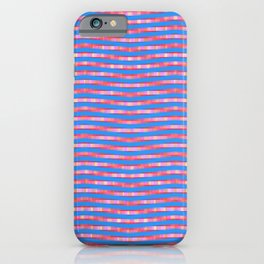 Waving Fuzzy Pink and Blue Pattern iPhone Case