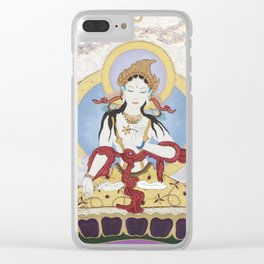 What the world needs now - White Tara Clear iPhone Case
