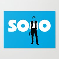 han solo Canvas Prints featuring Han Solo by Vector Vectoria