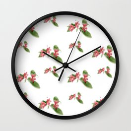Little Red Flowers Wall Clock