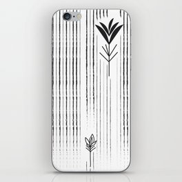 Black & White Siam Tulips iPhone Skin