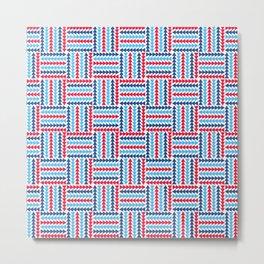 AFE Abstract Basket Weave Metal Print
