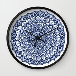 Sand Dollar-Navy Wall Clock