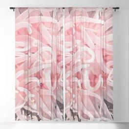 Anemone Flower Sheer Curtain
