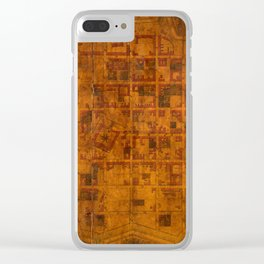 Map Of Montevideo 1807 Clear iPhone Case