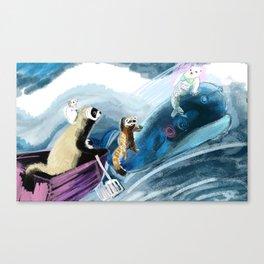 Ferret on the boat Natacha the Ferret Canvas Print