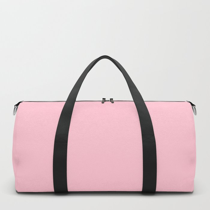 Pink Colour Blocks Duffle Bag