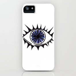Blue Eye Warding Off Evil iPhone Case