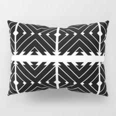 MONOCHROMA Geometrica : Black & White Box Pattern Pillow Sham
