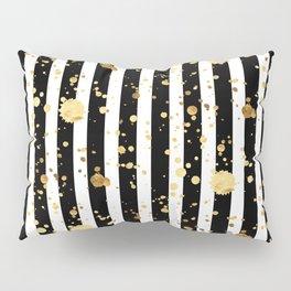 Stripes & Gold Splatter Pillow Sham