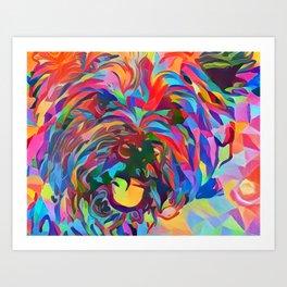Abstract Doggo Art Print