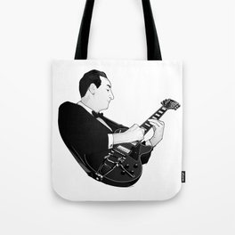 LES PAUL House of Sound - BLACK GUITAR Tote Bag