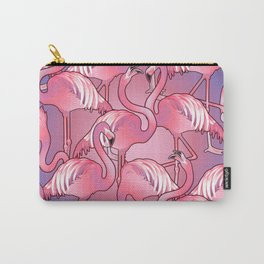 Cute graphic flamingos Carry-All Pouch