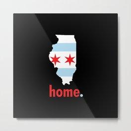 Illinois Proud Metal Print