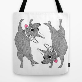 Chihuahua Handstand Tote Bag