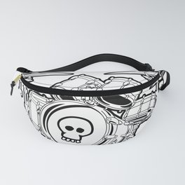 Drum Set Cartoon Fanny Pack