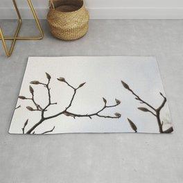 white magnolia Rug