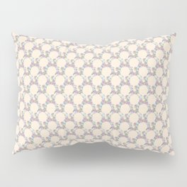Roses & Forget Me Nots Wreath Champagne Pink Pillow Sham