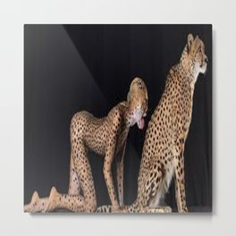 Girl_cheetah Metal Print