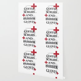 Coffee Gloves Nurse Life Funny Gifts Wallpaper