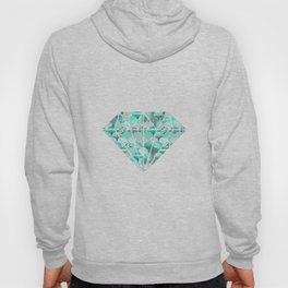 Green Turquoise Glamour Mermaid Scale Pattern Hoody