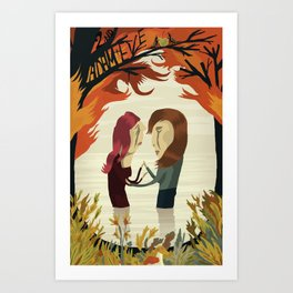 (2nd) Adam and Eve Art Print