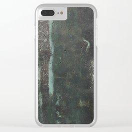 Copper Green Concrete Clear iPhone Case