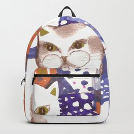 Cat and Kitten. Ornamental Backpack
