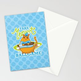 Take Meowt to the ball game!  Stationery Cards