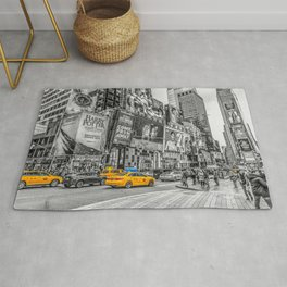 Yellow Taxi's Times Square Rug