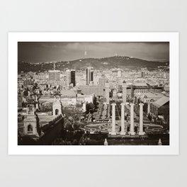 Barcelona: From Montjuic Art Print