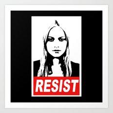 Resist Art Print