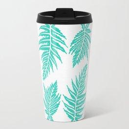 Inked Ferns – Turquoise Palette Travel Mug