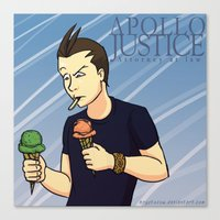 ace attorney Canvas Prints featuring Apollo Justice: Attorney at Law by Kryptocow