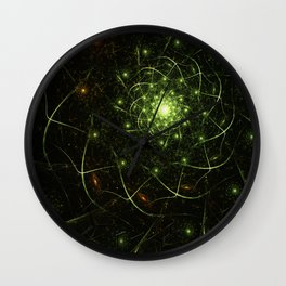 Kaos Entwined Flame Fractal Wall Clock