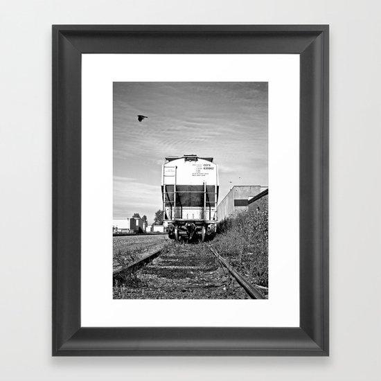Urban train car Framed Art Print