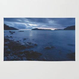 Blue Sunset on the Water, New Zealand Rug